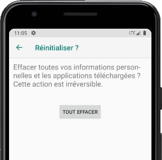 Tout effacer Android