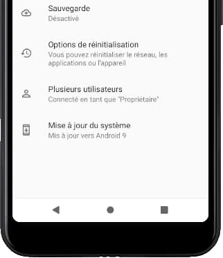 Options avancées Android