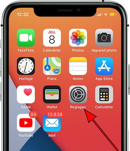 Icône reglages iOS