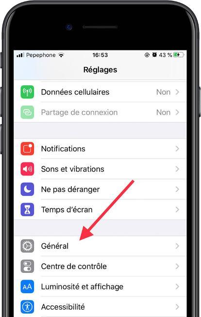 Icône Général iOS