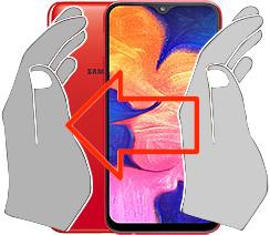 Capture d'écran sur  Samsung Galaxy A10