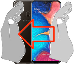 Capture d'écran sur  Samsung Galaxy A20
