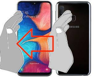 Capture d'écran sur  Samsung Galaxy A20e