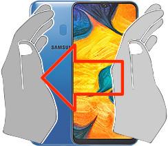 Capture d'écran sur  Samsung Galaxy A30