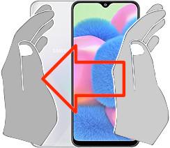 Capture d'écran sur  Samsung Galaxy A30s