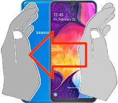 Capture d'écran sur  Samsung Galaxy A50