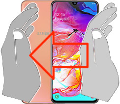 Capture d'écran sur  Samsung Galaxy A70