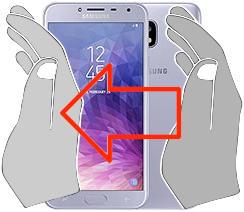 Capture d'écran sur  Samsung Galaxy J4