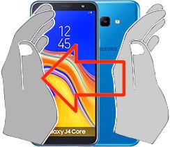 Capture d'écran sur  Samsung Galaxy J4 Core