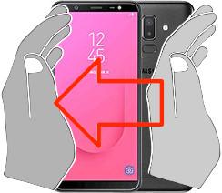Capture d'écran sur  Samsung Galaxy J8