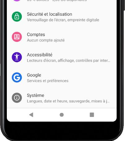 Système icône Android